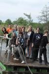(Fast) alle auf einem Boot: der Gesangskreis im Technikpark Mildenberg, Mai 2010