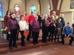 Gottesdienstsingen in der Alten Pfarrkirche, Weißensee, Bethanien-Gemeinde am Sonntag, 18. Januar 2015